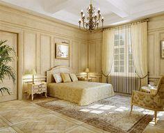 Оформление интерьеров. Стиль классицизм. Classic Interior, Home Interior Design, Mediterranean Style Homes, Open Plan, Bedroom Decor, House Design, Furniture, Home Decor, Interiors