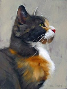 "Diane Hoeptner, ""Tom"" Oil on panel, 8"" x 6,"" Sanat http://turkrazzi.com/ppost/493284965421958769/"
