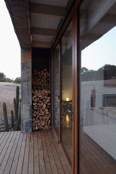 Great wood storage!
