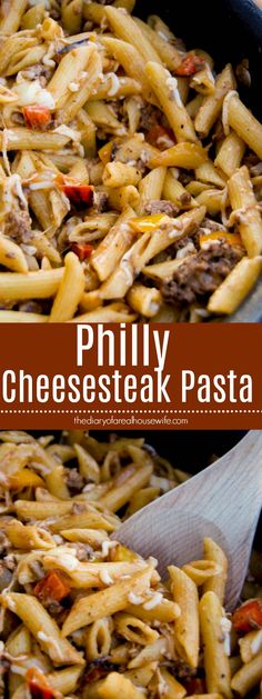 Philly Cheesesteak Pasta. This one you are going to LOVE LOVE LOVE! Even my kids loved it.