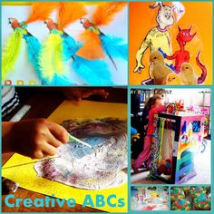Creative ABCs - Preschool Alphabet Activities and Crafts. Explore and discover the alphabet in a creative fun way. Homeschooling preschool play and hands-on activities and every day discoveries.