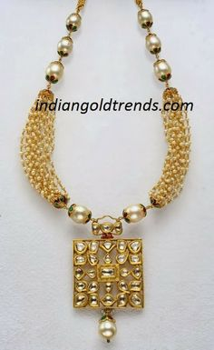 Latest Indian Gold and Diamond Jewellery Designs: Pearl necklace Resin Jewelry, Pearl Jewelry, Indian Jewelry, Pendant Jewelry, Diamond Jewelry, Wedding Jewelry, Antique Jewelry, Gold Jewelry, Pearl Necklace