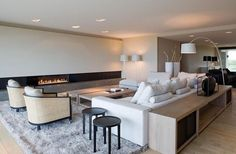 Modern Living Room Decor - Josh and Derek Living Room Tv, Living Room Interior, Home And Living, Simple Living, Interior Concept, Modern Interior, Interior Architecture, Fireplace Design, Open Plan
