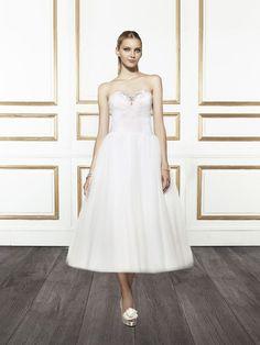 Black Tea Length Alternative Wedding Dresses