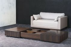 Rectangle Shape Wooden Coffee Table