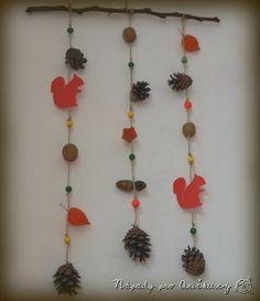 Podzimní veverková dekorace Crafts For Kids, Inspiration, Ideas, Pray, Fall, Spider, Kids, Crafts For Children, Biblical Inspiration