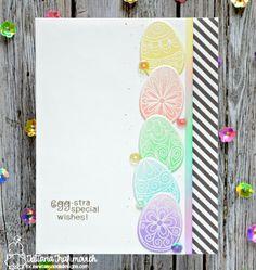 Egg-stra Special Wishes #handmade card by Tatiana Trafimovich #tatianacraftandart - Beautiful Spring Stamp set by Newton's Nook Designs #newtonsnook