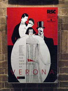 The two Gentlemen of Verona vintage poster at the RSC, Stratford upon Avon. I was admiring the Art Deco artwork when it dawned on me that was a 'V'......k