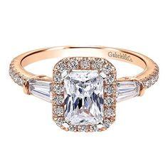 14K PINK GOLD DIAMOND HALO - Luxury Beauty - http://amzn.to/2hZFa13