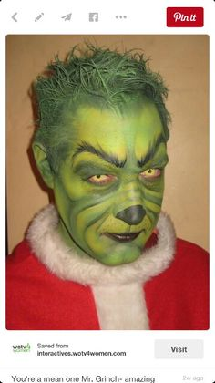 The Grinch...makeup for Seussical!