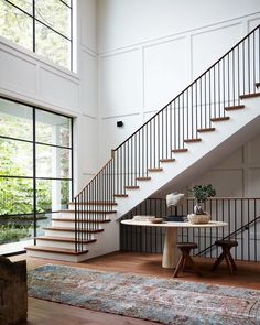 The Top Staircase Railing Inspiration Photos We're Using to Design Ours. (Chris Loves Julia) The Top Staircase Railing Inspiration Photos We're Using to Design Ours. Architectural Digest, Staircase Railings, Stairways, Modern Staircase, Grand Staircase, Staircase Ideas, Spiral Staircases, Staircase Interior Design, Modern Railing