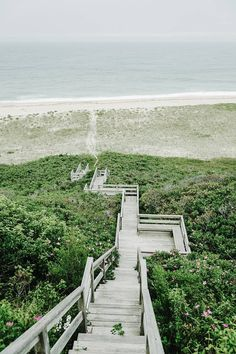 Stairway to Beach on Nantucket Island, Massachusetts New England Road Trip Style Travel Photography with Landscapes and Towns in Summer Fall Winter and Spring Oh The Places You'll Go, Places To Visit, Nantucket Island, New England Travel, Coastal Gardens, Love, East Coast, Travel Photography, Exterior