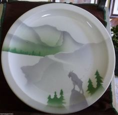 RAILROAD DINING CHINA GREAT NORTHERN GLORY OF THE WEST DINNER PLATE, Syracuse