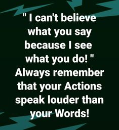 People are watching how we back up our words, our beliefs, our values!