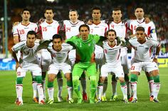 Iranian Players poses for Team photo  during AFC Asian Cup Qualifiers between Iran and Thailand at Azadi Stadium Tehran, Iran. on October 15, 2013