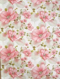 antique floral paper: