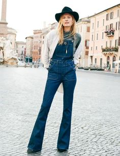 turtleneck with overalls