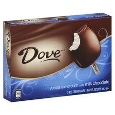 Dove Vanilla & Milk Chocolate Ice Cream Bar 3 pack