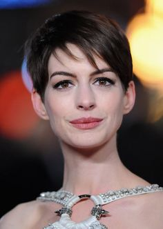 The easiest way to change up a short haircut is to switch the part. Anne swapped sides for the London premiere of Les Misérables.