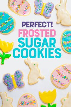 Looking for the perfect sugar cookie recipe for cutouts? This is it! Delicious, mildly flavored, and they don't spread in the oven! #sugarcookies #baking