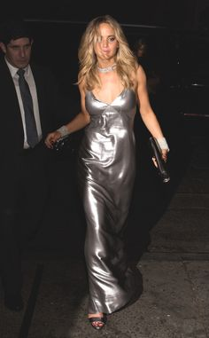 Jennifer Lawrence Changes to Plunging Silver Gown for 2015 Met Gala After-Party—See Her Sexy Second Look!  Jennifer Lawrence, Met Gala Party