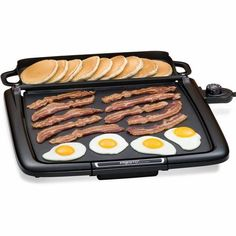 Electric Nonstick Griddle with Warming Tray Presto Griddle, Griddle Pan, Presto Pressure Cooker, Food Handling, Indoor Grill, Indoor Outdoor, Cooking Temperatures, Drip Tray, Serving Platters