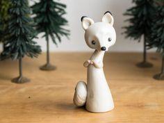 Arctic Fox Figurine by Bonjour Poupette by BonjourPoupette on Etsy