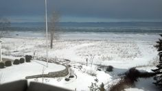 A Winter Wonderland view from The Beach House. A Vacation rental located in Port Sanilac, Michigan