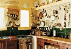 Julia Child's kitchen as preserved at her house in Plascassier, now a cooking school.