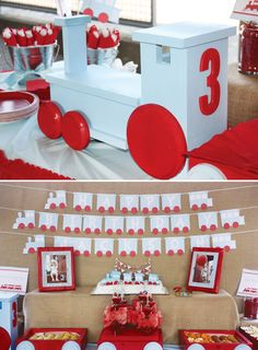 Choo Choo Train Party // Hostess with the Mostess® Trains Birthday Party, 3rd Birthday Parties, Birthday Fun, Birthday Ideas, Blue Birthday, Princess Birthday, Zug Party, Party Fiesta, Choo Choo Train