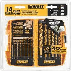 DEWALT DW1354 14-Piece Titanium Drill Bit Set DEWALT https://www.amazon.com/dp/B0045PQ762/ref=cm_sw_r_pi_dp_x_3e4lybA6AQ4H4
