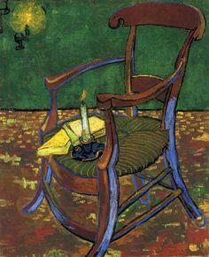 Gauguin's Chair by Vincent van Gogh #art