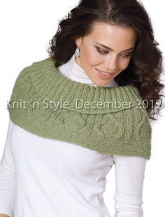 """Cable & Rib Cowl"" from our December 2012 issue."