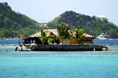 Janti's Happy Island ~ A man-made island (from conch shells) in Clifton Harbour, Union Island, St. Vincent and the Grenadines Beautiful Islands, Beautiful Places, Bequia, Windward Islands, St Vincent Grenadines, Paradise Travel, Saint Vincent, Beaches In The World, Beach Bars
