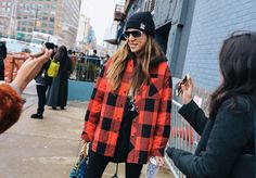 dani stahl in balenciaga jacket, carrera sunglasses ny fashion week | fall 2017& louis vuiton bag |