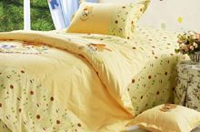 4 pieces set including quilt cover, bed sheet, pillow cover and cushion cover
