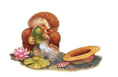 May Happiness Blossom along your way... cute animated hello friend gif hedgehog greeting friend greeting