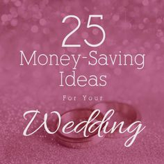 Money-saving ideas for your wedding