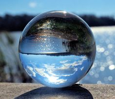 200mm Clear Crystal Ball with Stand Spheres / Marbles More @ FOSTERGINGER At Pinterest
