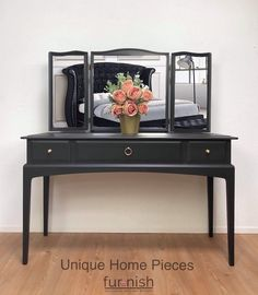 Stag Furniture, Selling Furniture, Hand Painted Furniture, Bespoke Furniture, Furniture Companies, Black Dressing Tables, Bedroom Dressing Table, Dressing Mirror, Dressing Room
