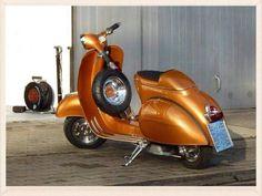 Orange vespa Vespa Gtv, Piaggio Vespa, Lambretta Scooter, Vespa Motor Scooters, Scooter Motorcycle, Motorcycle Garage, Px 125 Vespa, Lml Vespa, Vespa Special