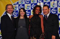 Luiz Alberto de Farias, Ágatha Camargo, gestores da ABRP e Leila Neves, Rodinei Thiago integrantes da equipe do Projeto Memória.