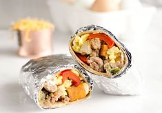 Light & Spicy Turkey Sausage Breakfast Burritos are a healthy freezer-friendly breakfast full of lean turkey sausage, scrambled eggs and roasted vegetables. Make Ahead Breakfast Burritos, Healthy Breakfast On The Go, Breakfast Recipes, Vegetarian Breakfast, Diabetic Breakfast, Breakfast Bites, Homemade Breakfast, Turkey Breakfast Sausage, Turkey Sausage