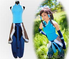 Popular Custom Made Blue Avatar The Legend of Korra Cosplay Costume