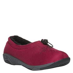 Propet Women's Clara Slippers, Red Velour, 11 W *** You can get more details by clicking on the image.