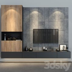 Living Room Units, Living Room Tv Unit Designs, Living Room Green, Living Rooms, Bedroom Tv Wall, Master Bedroom Interior, Mountain House Decor, Tv Wall Cabinets, Modern Tv Wall Units