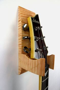 Tiger Maple Wall Mounted Guitar Hanger by BoardandBlade on Etsy