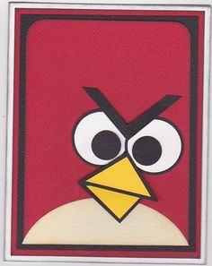 Angry Bird Cards.  Made this card for my grandson's birthday.
