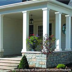 Front Porch Columns with grey paint | Under Construction | Pinterest ...