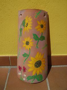 teja pintada a mano por Consu